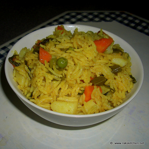 Coconut Milk Veg Biryani Recipe Raks Kitchen