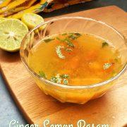ginger lemon rasam recipe