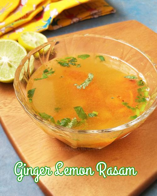ginger lemon rasam