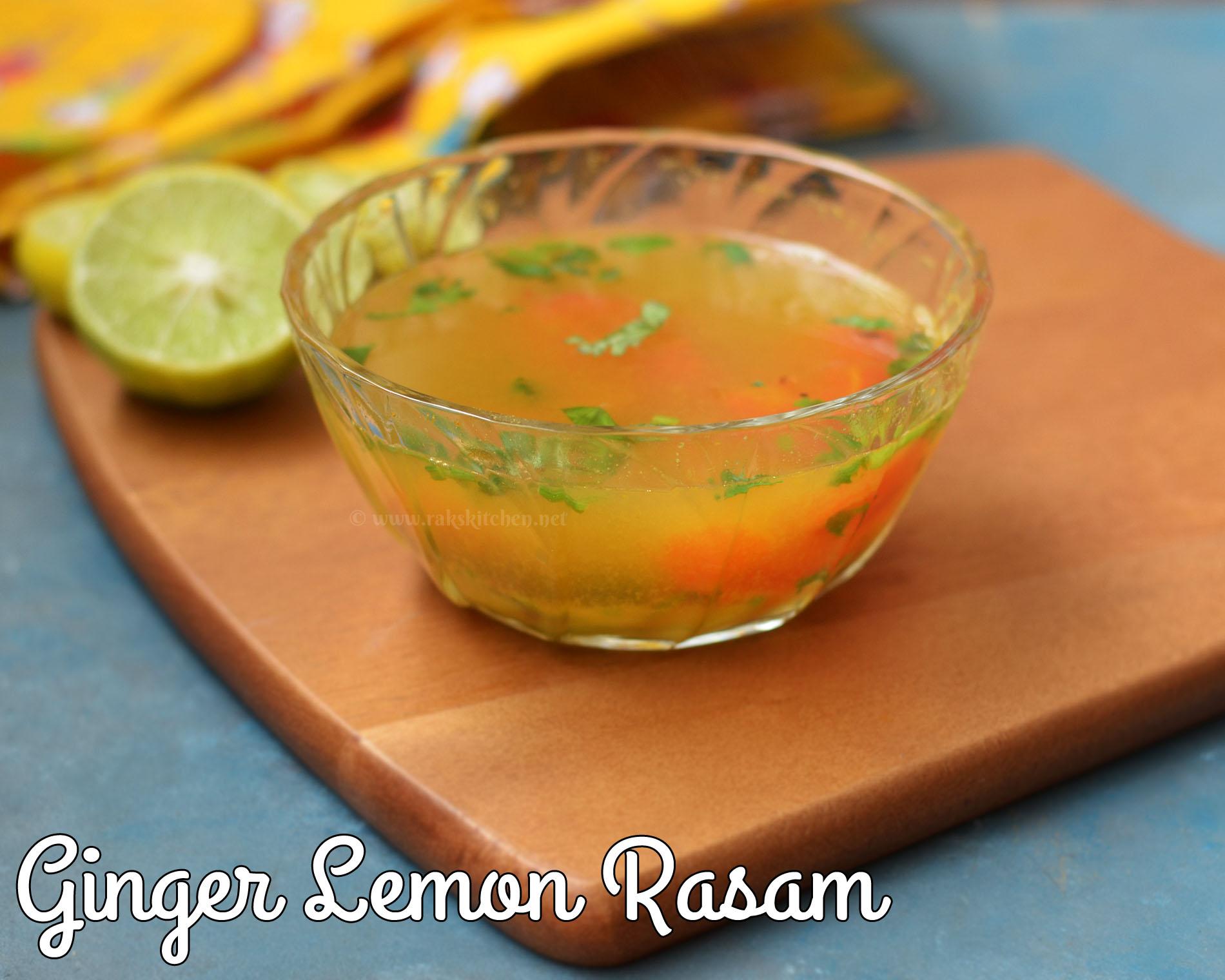 lemon ginger rasam