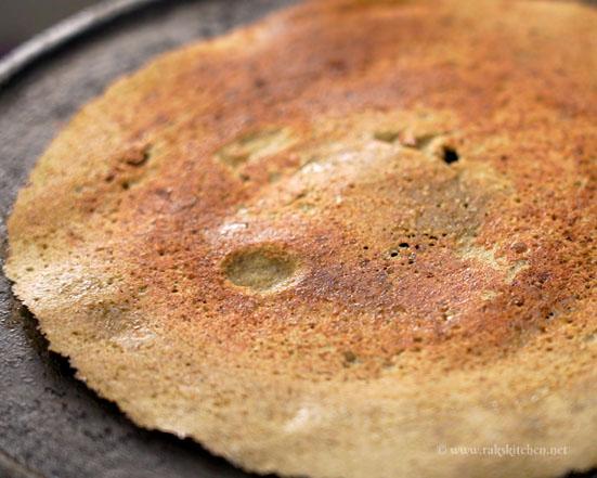 Flip and cook pesarattu ready
