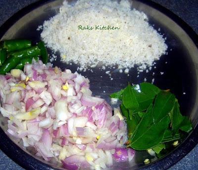 Purple cabbage poriyal step 3