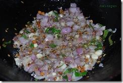 Onion garlic,fry