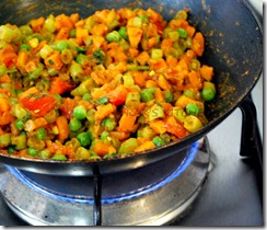 vegetable puff mix well