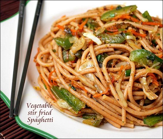 Stir fried spaghetti recipe
