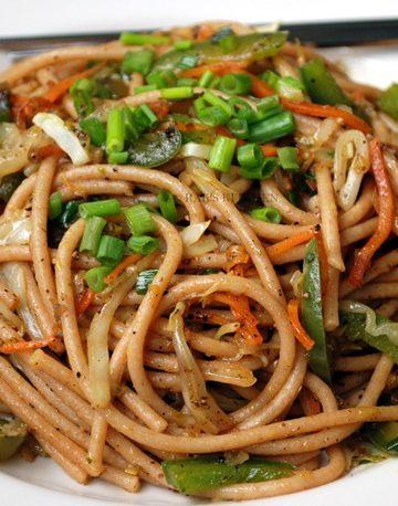 stir fry spaghetti