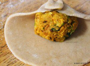how to make mooli paratha step 8