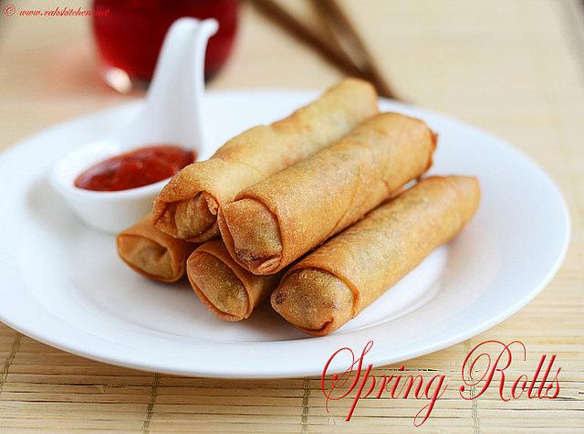 spring roll, vegetarian, vegan