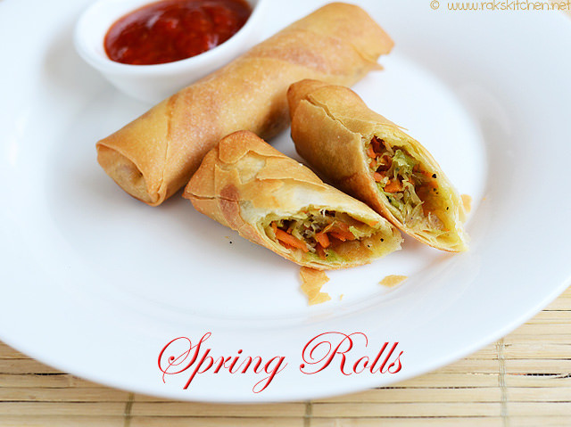 cross section of spring roll