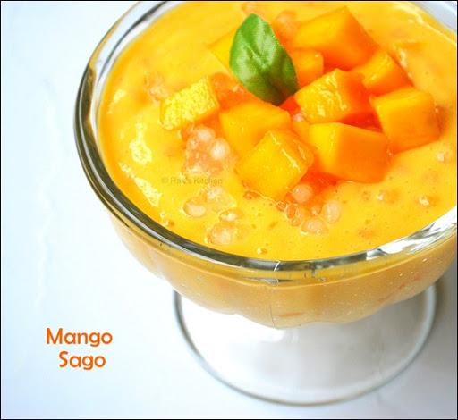 Mango sago recipe | Mango sago pudding recipe