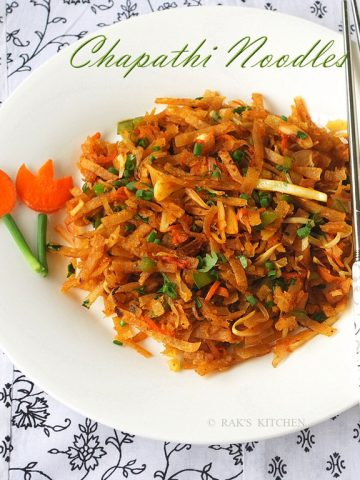 Chapati noodles recipe | Chapathi noodles | Dinner ideas