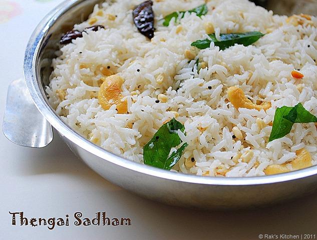 thengai sadam   coconut rice