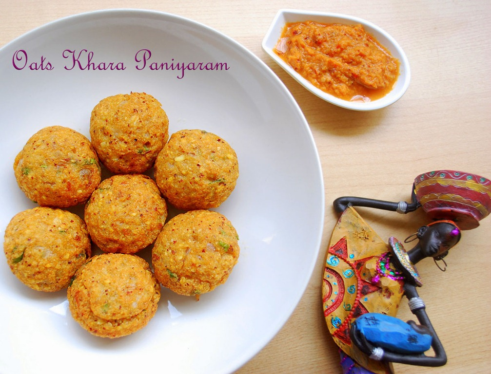 Indian-Oats-Recipes-Khara-paniyaram