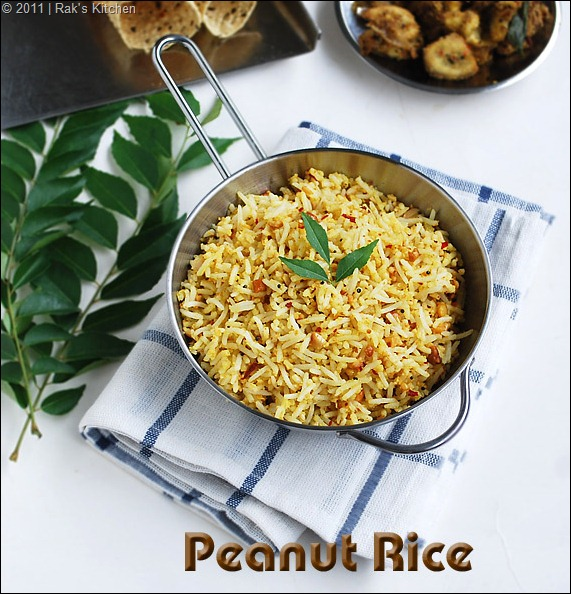South Indian style peanut rice
