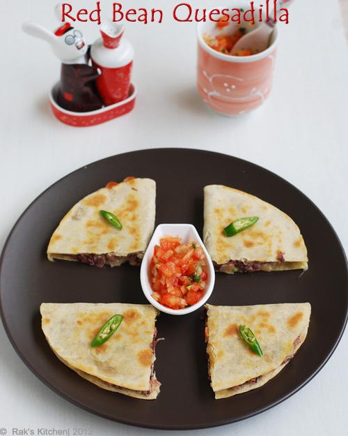 red bean quesadillas