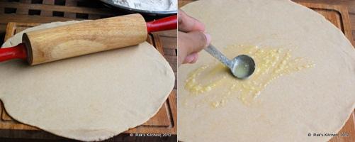 How to make lachha paratha step 2