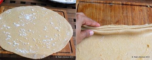 How to make lachha paratha step 3