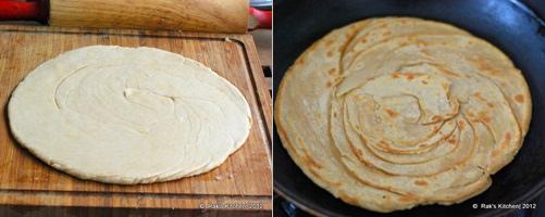 How to make lachha paratha step 5