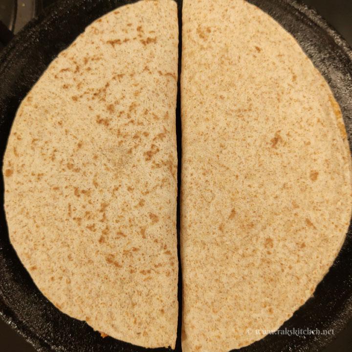 cooking quesadilla