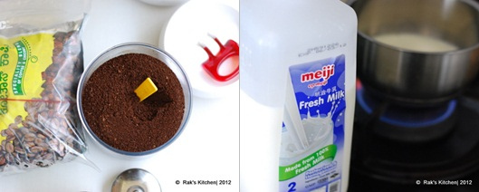 coffee powder and milk