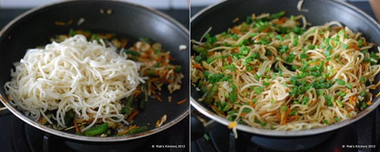 How to make hakka noodles step4