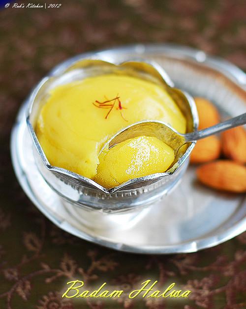 Badam Halwa Recipe Indian Sweet Recipes Raks Kitchen