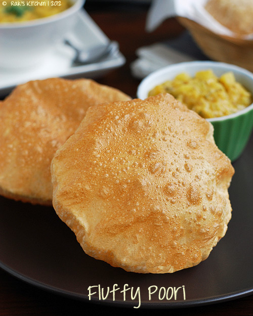 Poori Recipe How To Make South Indian Puri Raks Kitchen