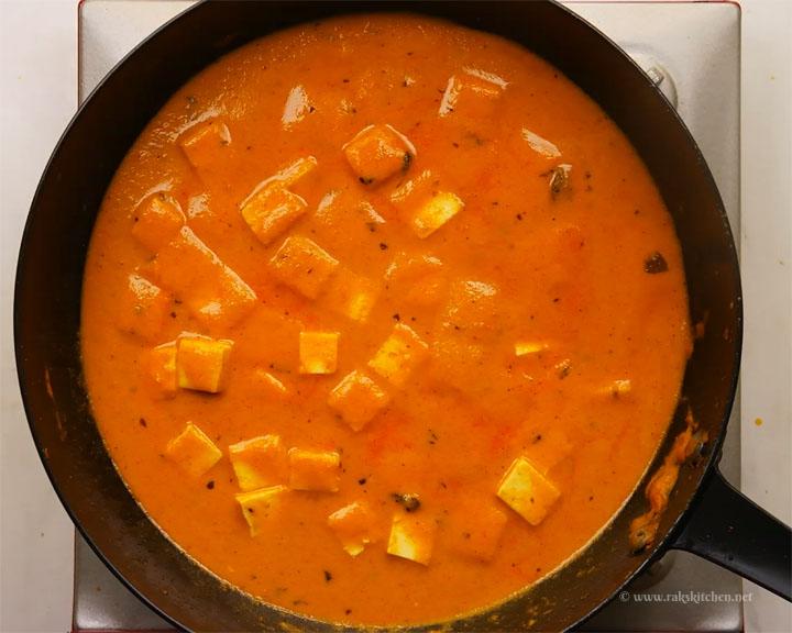 Paneer butter masala ready