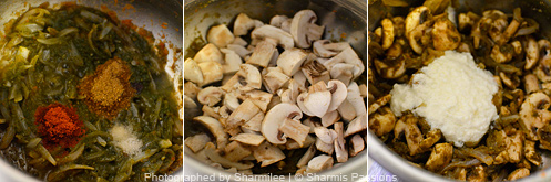 Mushroom Biryani Recipe - Step3