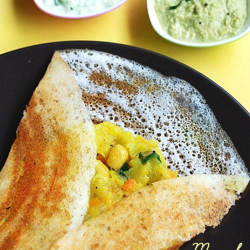 Masala dosa recipe, south Indian breakfast
