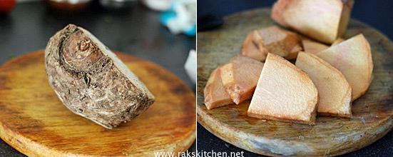 yam tawa fry preparation 1