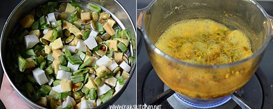 ezhu kari kootu recipe step 1