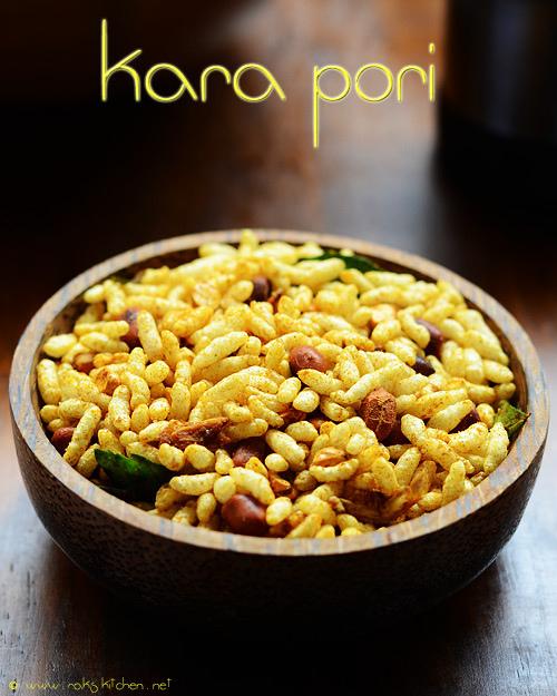 kara-pori-recipe spicy puffed rice