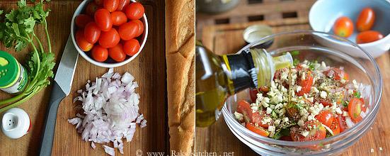 ingredients for bruchetta
