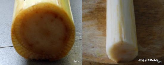 banana stem, vazhaithandu