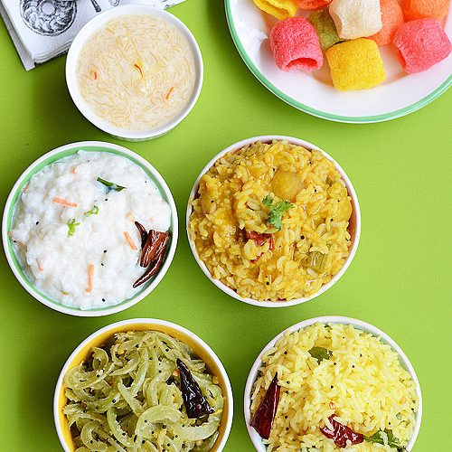 Variety rice lunch Menu 11 | South Indian