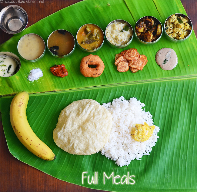 South Indian Meals Thala Vazhai Ilai Sappadu Raks Kitchen
