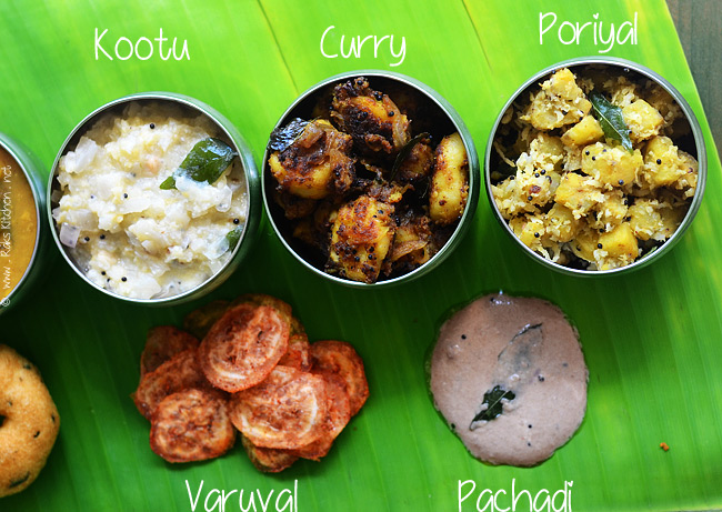 South Indian meals preparation