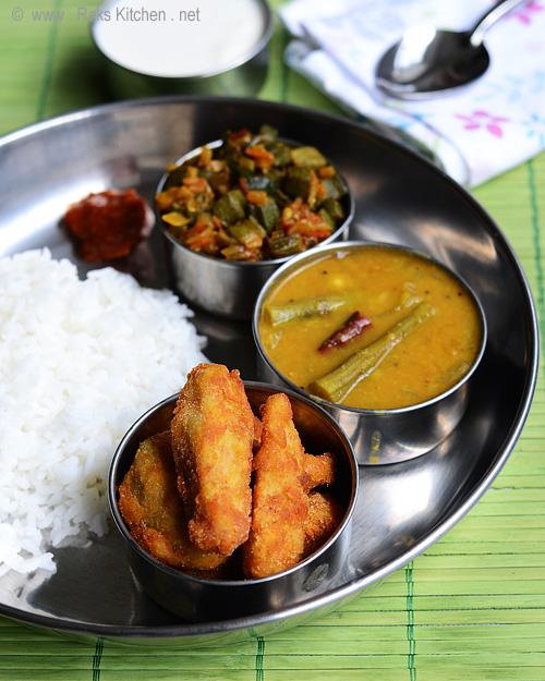 Lunch Menu 24 With Drumstick Sambar Arbi Fry Bhendi Curry Raks