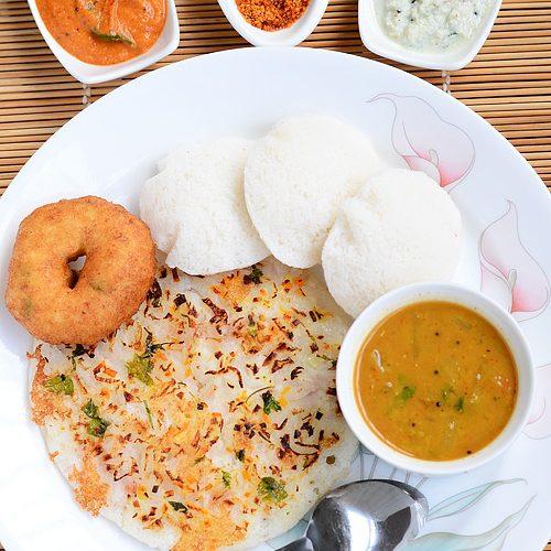 South Indian breakfast ideas – Menu 1