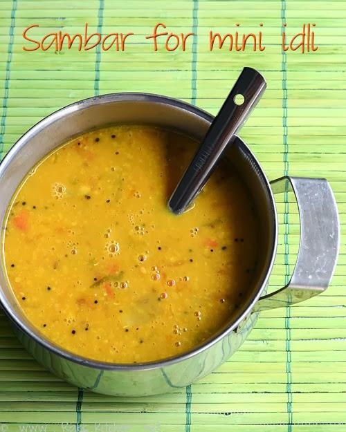 sambar for mini idli