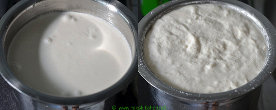 batter before after fermentation