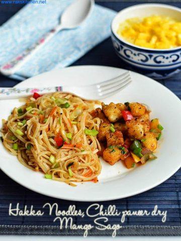 Indo chinese menu