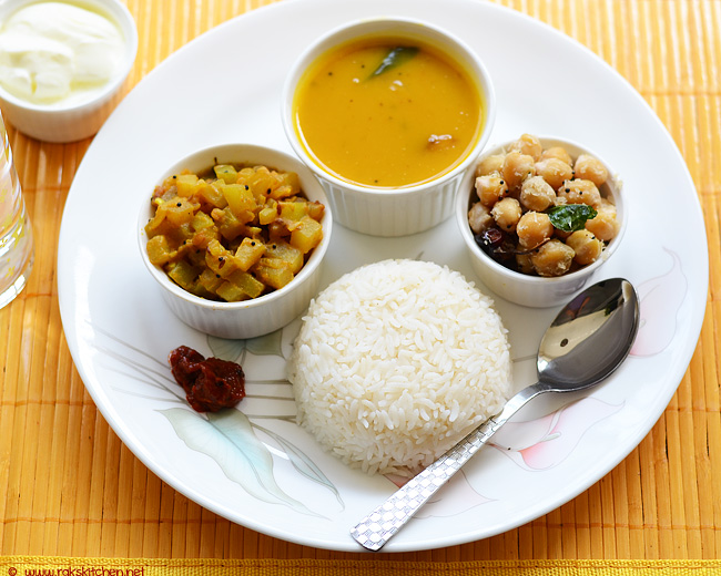 simple healthy south indian  meal