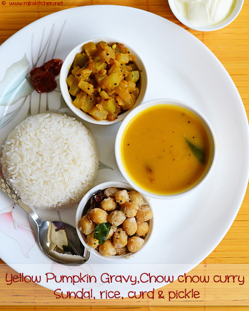 healthy south Indian menu