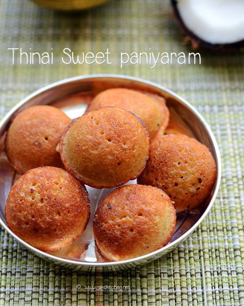 Thinai sweet paniyaram