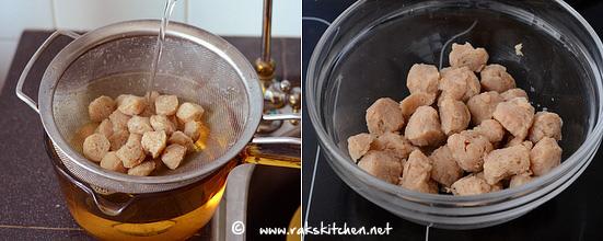 how to make soya chunks biryani step 3