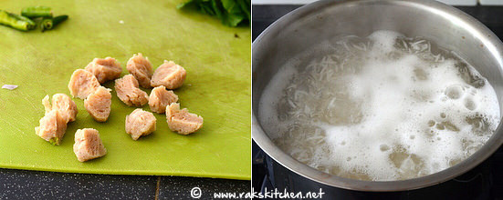 how to make soya chunks biryani step 4