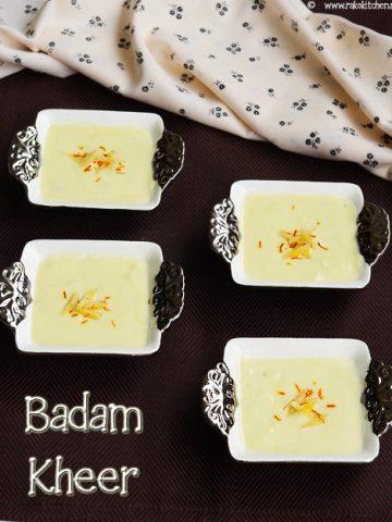 Badam kheer recipe | Almond dessert | Indian dessert recipes