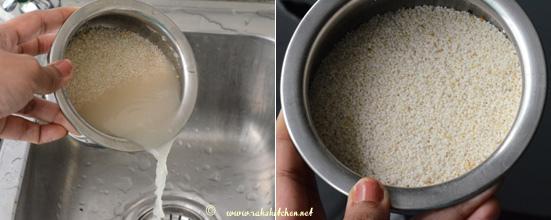 millet upma preparation 1